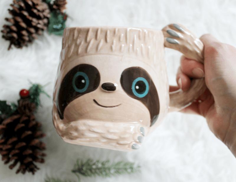 Boston Warehouse Flea Market 'Sloth' Ceramic Mug (Multi Colour)