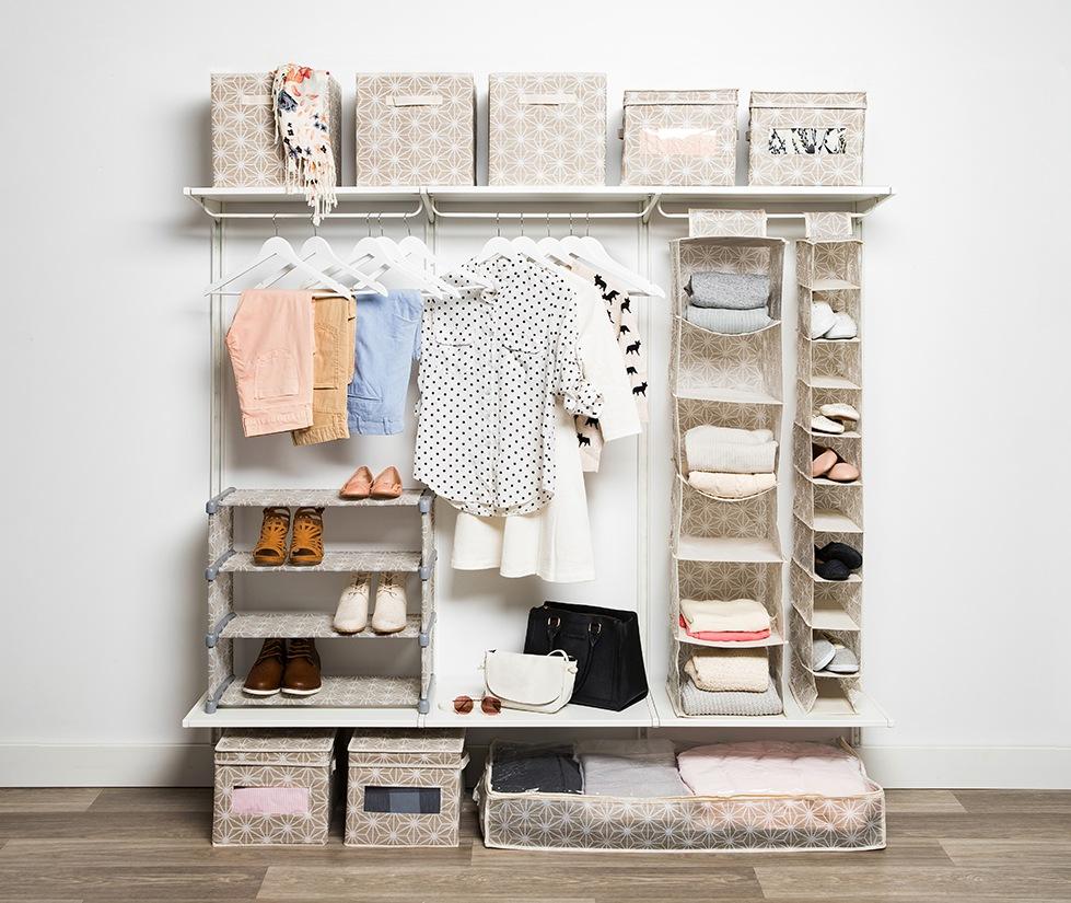 Bedroom closet organizers