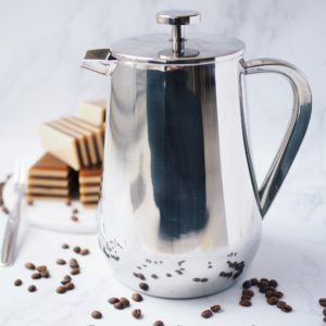 KSP Milano 'Double Wall' French Coffee Press (Stainless Steel)