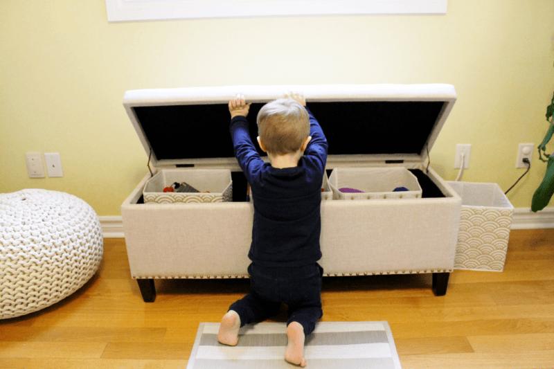 KSP Whitney Upholstered Storage Bench (Natural)