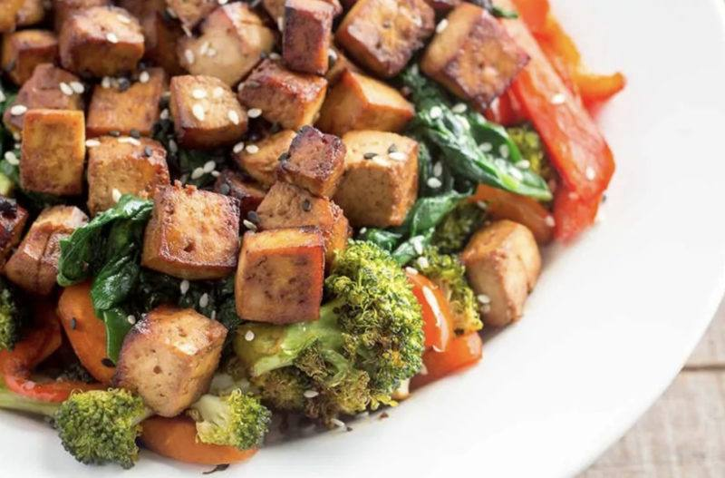 air fry tofu buddha bowl