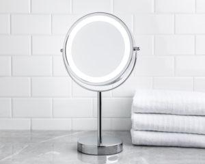 l.e.d. countertop mirror