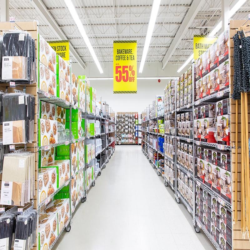 warehouse sale wide aisles