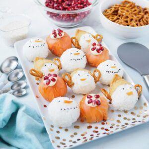 Christmas sushi balls on Kitchen Stuff Plus Holiday Serving Plate