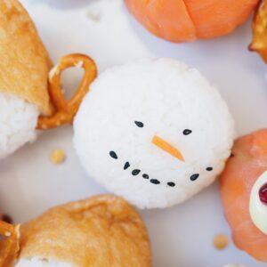 Snowman Christmas sushi ball