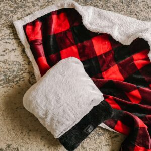 foot warmer & buffalo plaid sherpa throw from kitchen stuff plus