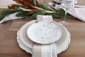 place setting using Kitchen Stuff Plus products close up