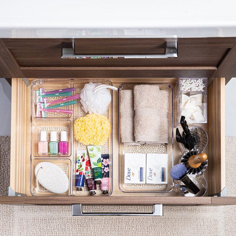 Organized bathroom essentials