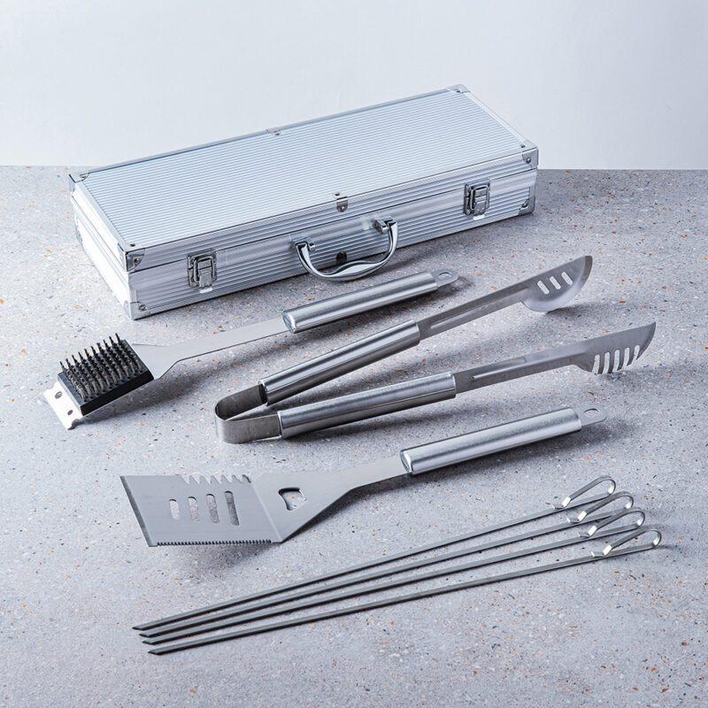 88736_KSP Gourmet BBQ Tools in Aluminum Case_Set of 7